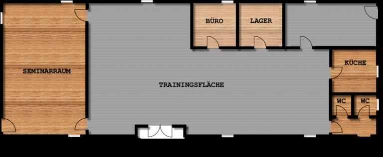Grundriss der Trainingshalle