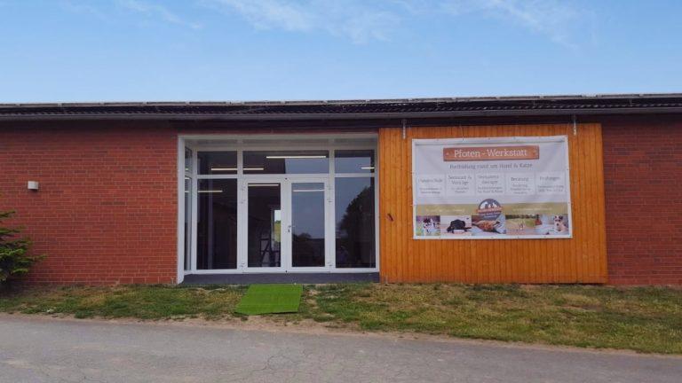 Eingang der Pfoten-Werkstatt