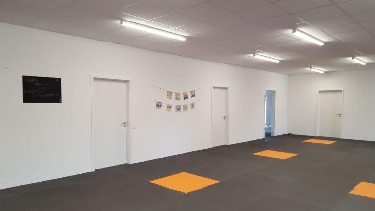 Indoor-Trainingsfläche in der Pfoten-Werkstatt
